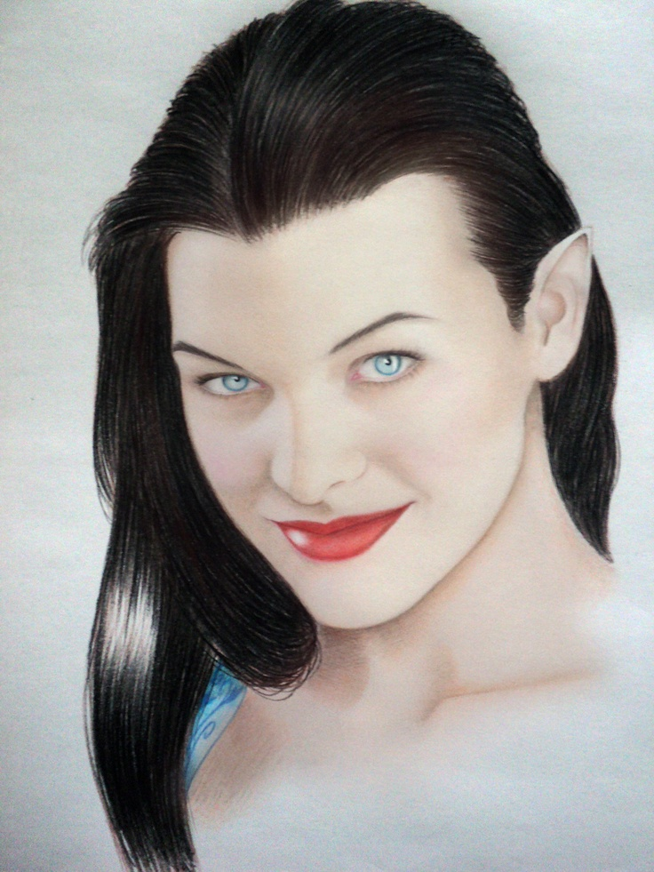 Angalad, graphite, pastel and color on paper...