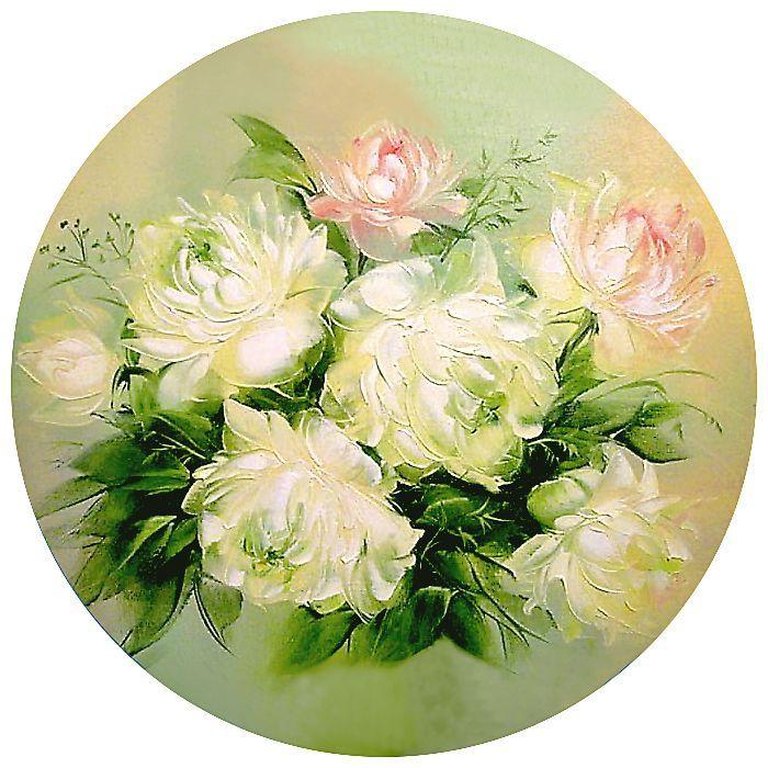Для пап, круглые картинки с цветами