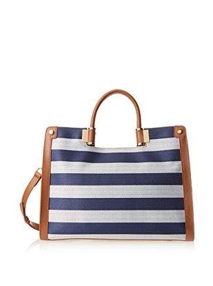 54% OFF Ivanka Trump Women's Rose Satchel Top Handle Bag (Navy)