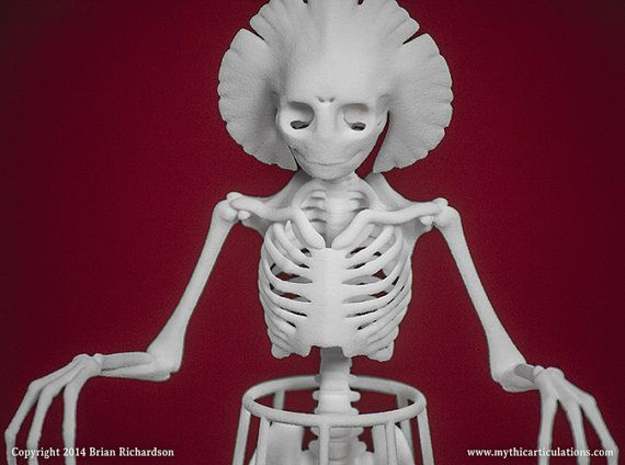 Flatwoods Monster Skeleton 3D Print by MythicArticulations on Etsy