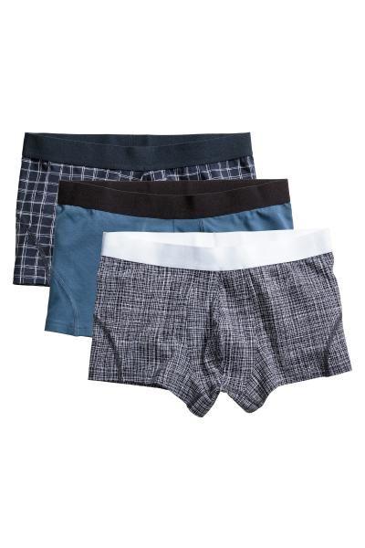 3-pack boxer shorts - Dark blue/Checked - Men | H&M GB 2