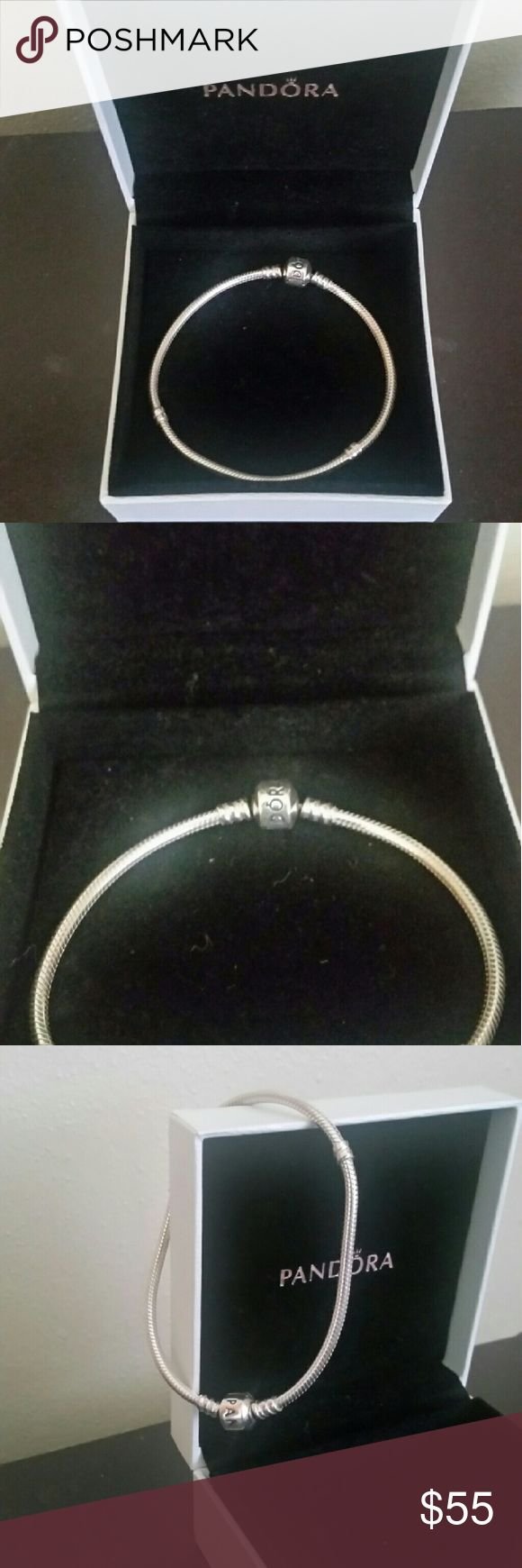 "PANDORA Sterling Silver Rope Bracelet Barely worn and been kept in the box.  8"" inches.  Get for yourself or as a gift! Pandora Jewelry Bracelets"