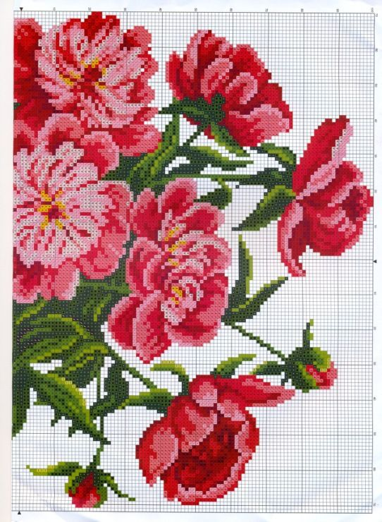 Best images about flores on pinterest cross stitch