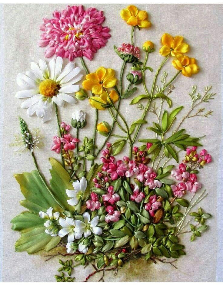 Best ribbonwork embroidery images on pinterest