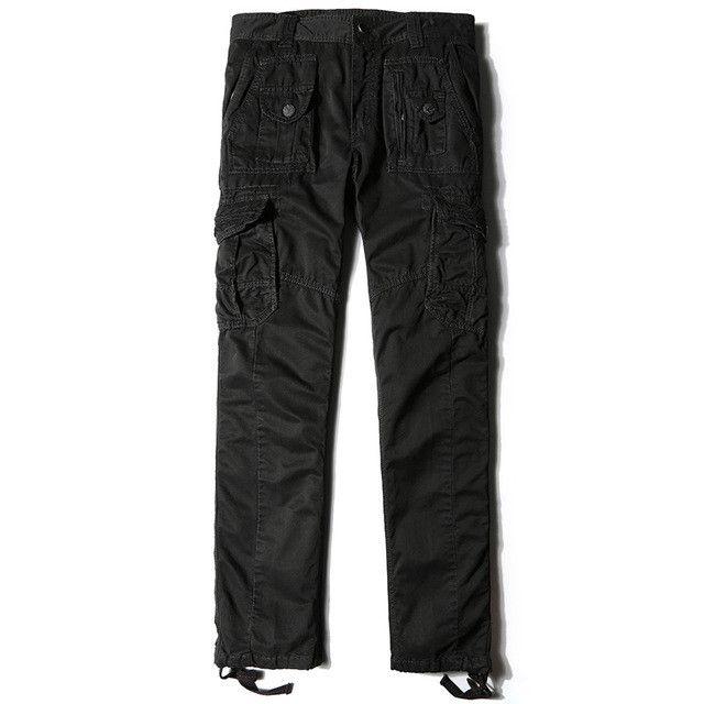 AIRGRACIAS Men Military Overalls Long Trousers Plus Size 29-40 High Quality Cotton Men's Army Pants Multi-Pockets Cargo Pants