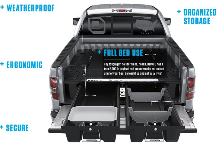 The 25 best decked truck bed ideas on pinterest truck bed box truck bed storage box and - Truck bed organizer ideas ...