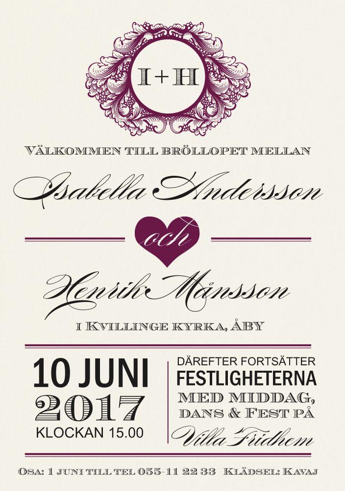 Inbjudningskort,<br>Levigato Plain, vanilj i gruppen BRÖLLOP / KORT / Inbjudningskort hos Calligraphen i Munkfors AB (set83059)