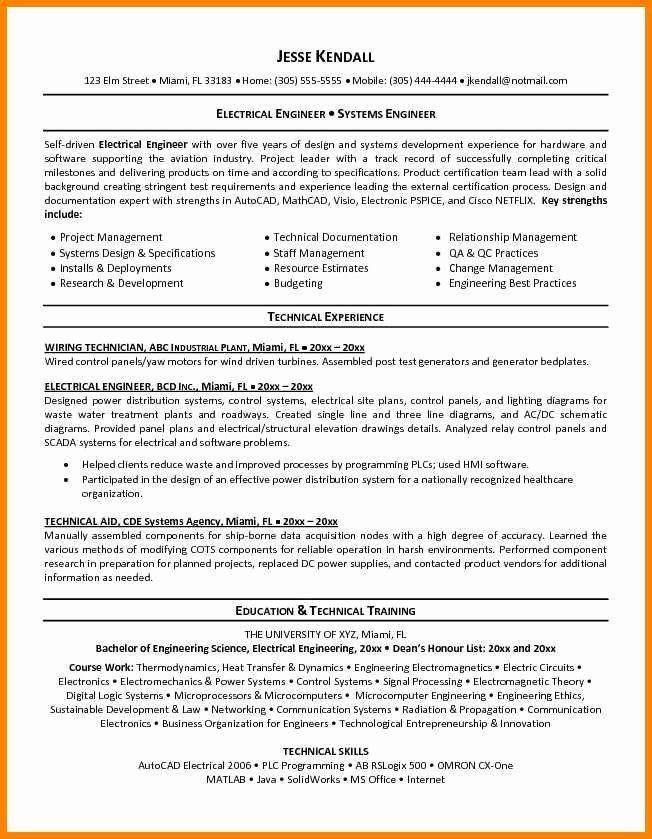 Electrical Engineering Resume In 2020 Engineering Resume Engineering Resume Templates Resume Objective Sample