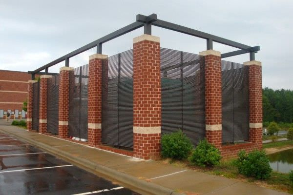 Galvanized Steel Fence Enclosures Spotlight Driveway Gate