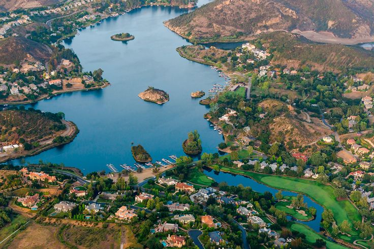 Lake Sherwood is an unincorporated community in the Santa Monica Mountains, in Ventura County, California overlooking Lake Sherwood reservoir. It is south of the Conejo Valley and city of Thousand Oaks, and west of Westlake Village. While homes have been around the lake since the reservoir was created, the community expanded with the construction of the Sherwood Country Club golf course surrounded by luxury homes.