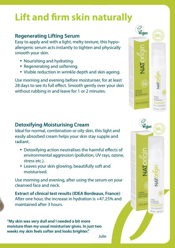 Lift and firm skin naturally with NATorigin.