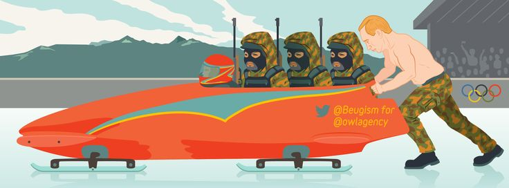 This year's Olympics have surely been the most heavily guarded winter games ever! Not only were they the main focus for police but politicians too. For Beugism's take on the issue visit owlillustration.com