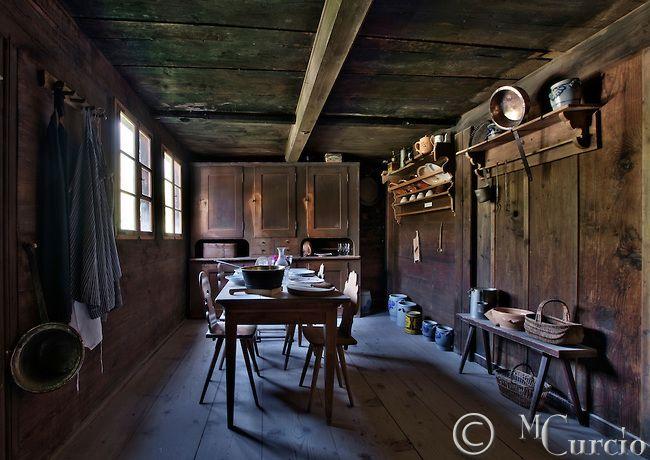 Kitchen Cottage Farmhouse Interior Old Wooden Rural
