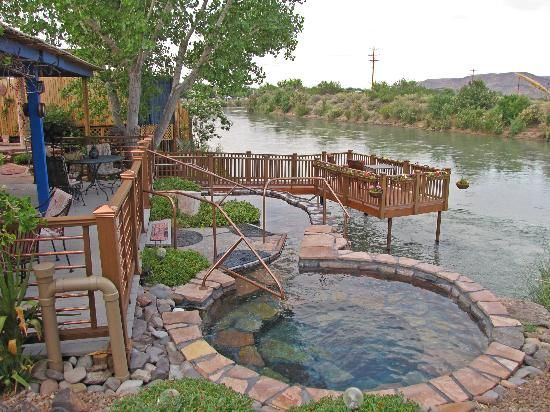 Riverbend Hot Springs New Mexico only hot springs on the Rio Grande  Vacation Rental in Santa Fe, NM  https://www.airbnb.com/rooms/2562597