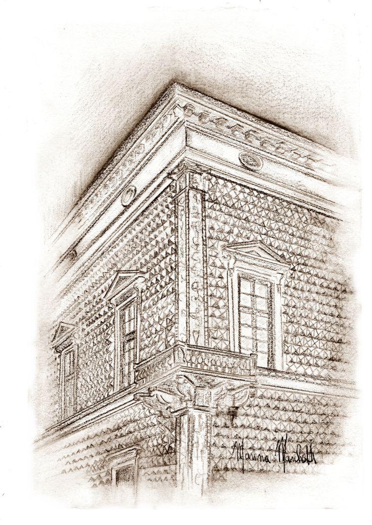 #Palazzo dei Diamanti# Ferrara#marinamarchetti#disegni