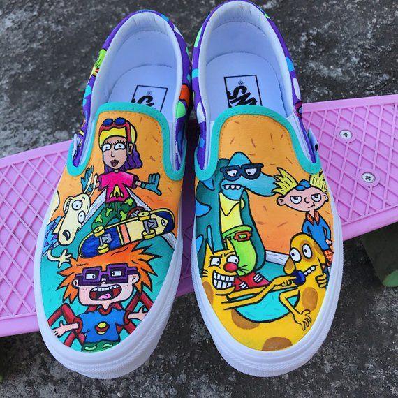 b218036bcd039 Rugrats Custom Vans 90s Nickelodeon, Rugrats vans Slip on, custom ...