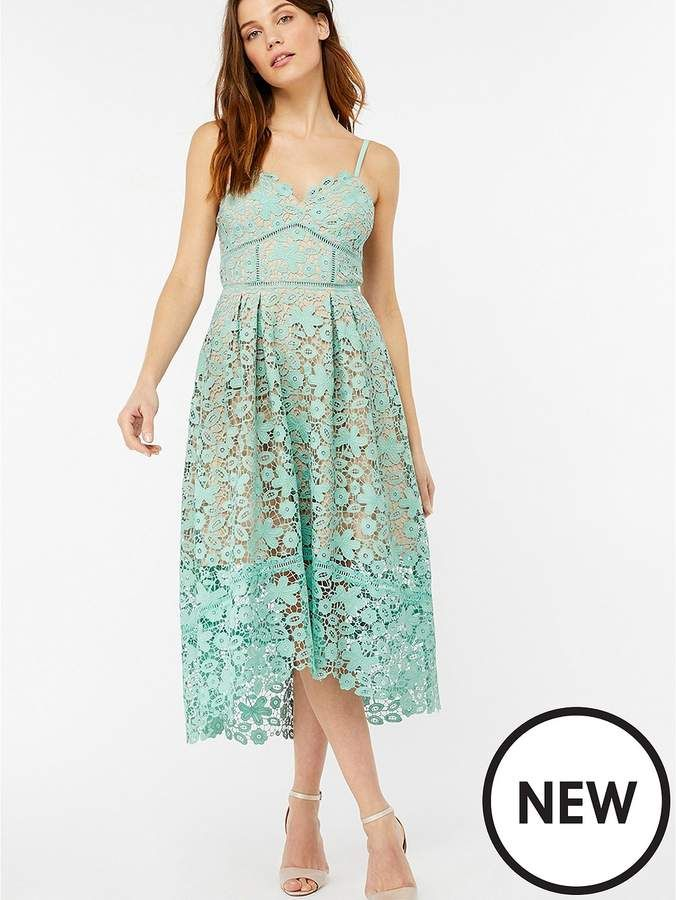 b63fd1afe302 Monsoon Madison Strappy Lace Dress - Green