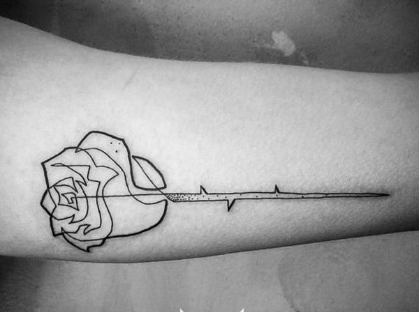 #Line #tattoo #designs are the most popular type of tattoo designs among both men and women of different age group and following different religion. Line #tattoos hold a deep symbolic meaning to the person who wears it and are usually worn to serve different purposes.#rose