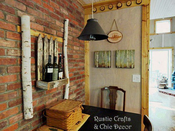 Rustic Dining Room Wall By Crafts Chic DecorRustic