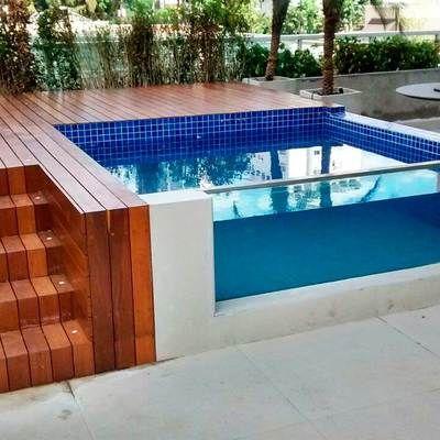 25 melhores ideias de piscinas elevadas no pinterest - Piscinas elevadas de obra ...