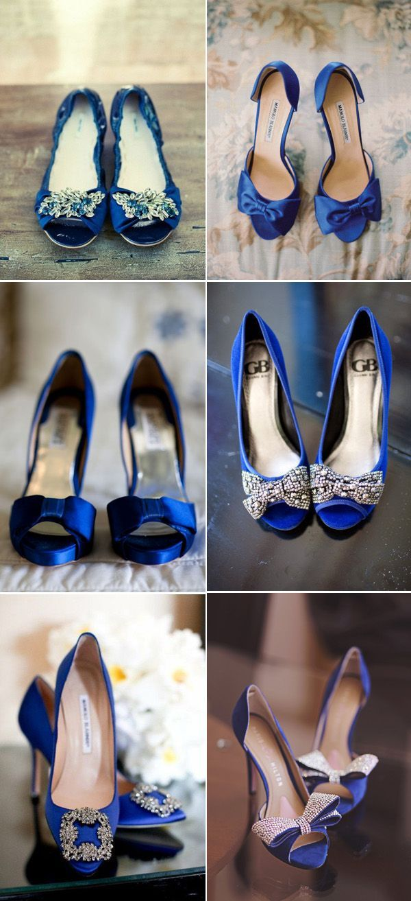 Blue wedding color  ideas - Royal Blue Wedding Shoes and Heels