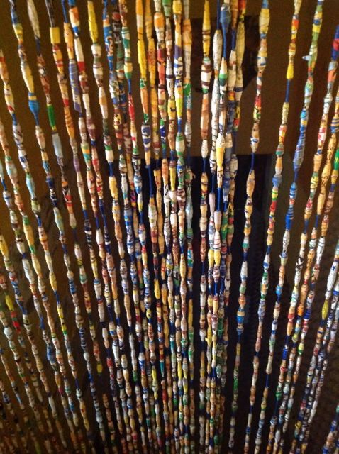 Many Paper Beads Together Curtain Things I Created