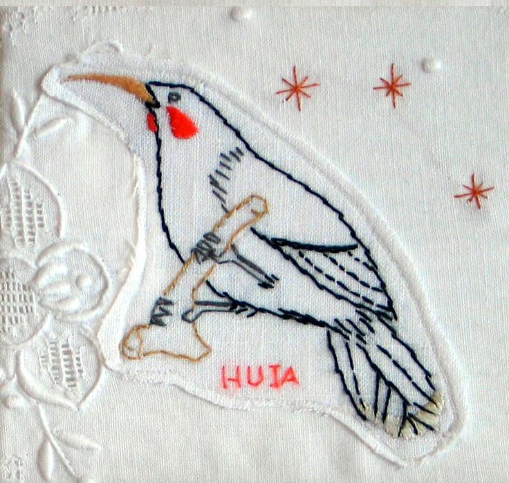 Huia Embroidery. $28.00, via Etsy.