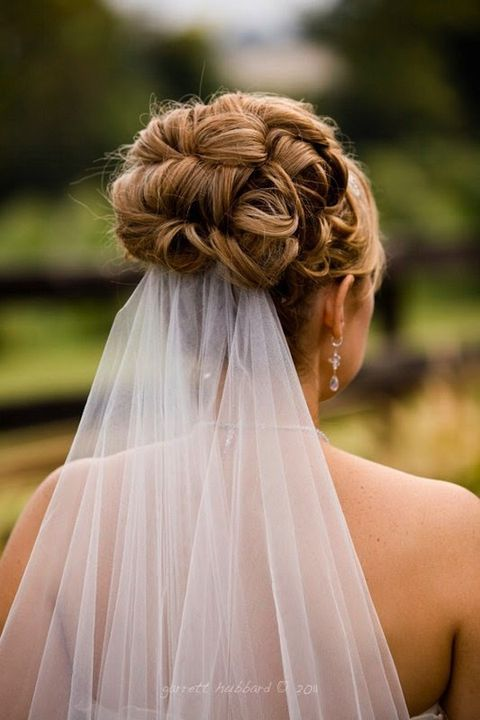 35 Adorable Wedding Hairstyles To Rock With A Veil | HappyWedd.com
