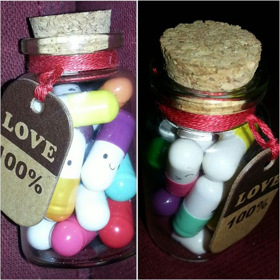 Another great gift idea!! love pills happy capsules kawaii message wishing by UniqueBeauts, £3.25