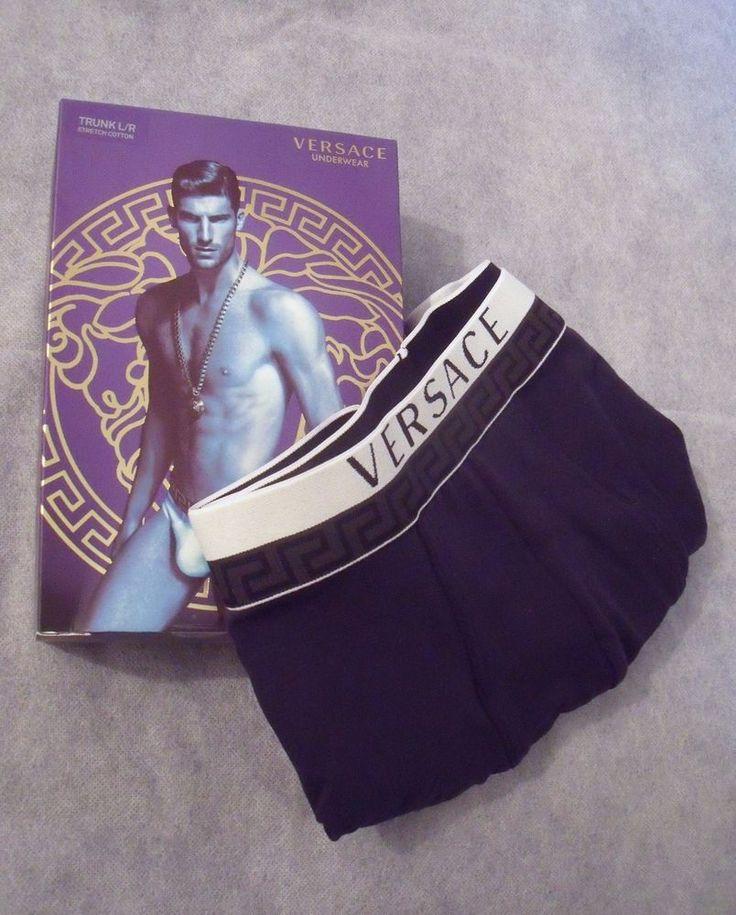 Versace Mens Blue Designer Boxer Underwear - Size 4 (GB 34) / Gift for him  | eBay