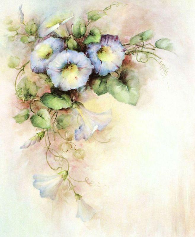 Открытки в стиле прованс акварель, цветов марта тюльпаны