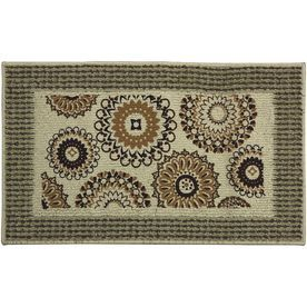 Mohawk Home Cream/Beige/Almond Rectangular Door Mat (Common: 18-In X 3