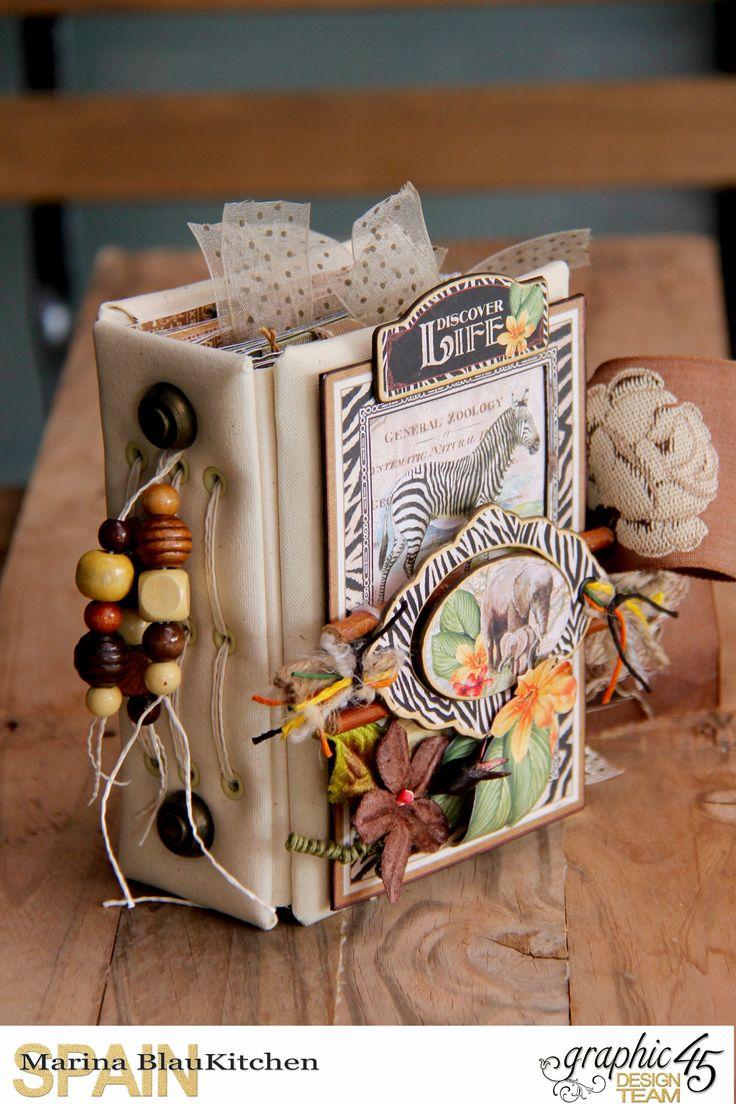 Mini album Safari Adventure by Marina Blaukitchen, Product by Graphic 45