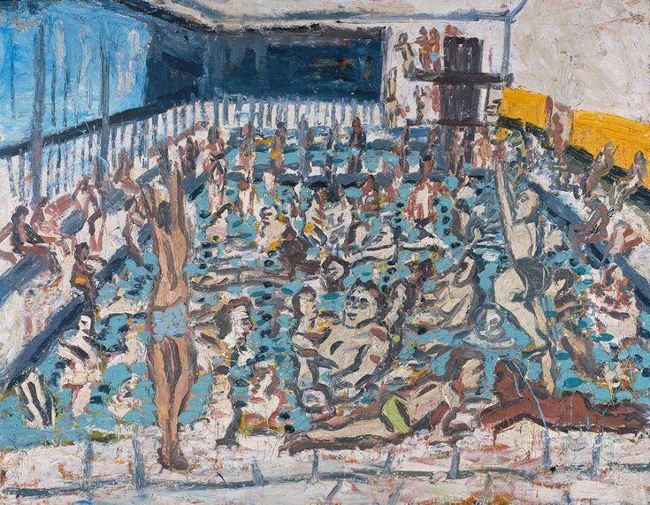 children's games - Leon Kossoff : Children's Swimming Pool, Autumn Afternoon 1971