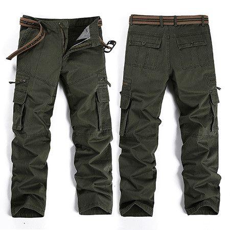 camouflage pants men casual pants overalls fashion bag cargo pants