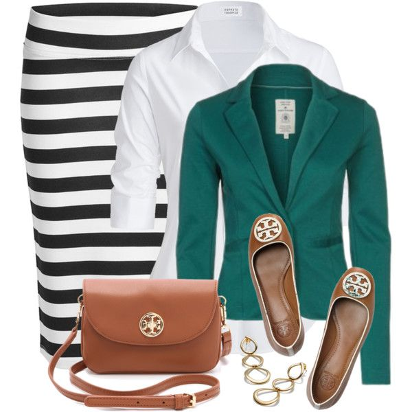 """Pencil Skirt and Flats"" by wishlist123 on Polyvore"