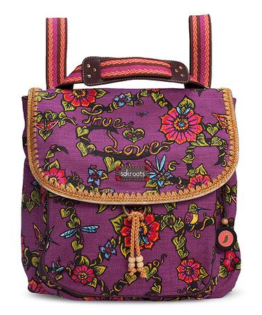 Take a look at this Berry Artist Circle Convertible Backpack by Sakroots on #zulily today!