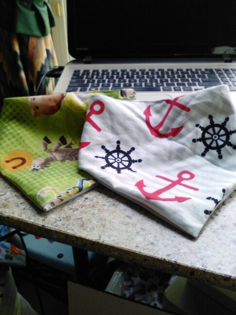 Bandana bibs I made for my Grandson Karson