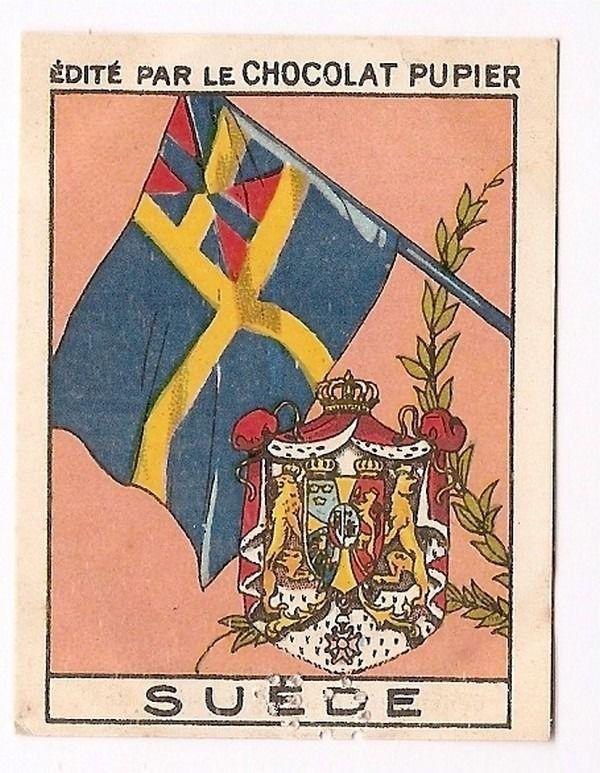 Suède - - Drapeau Armoiries - Image Chocolat Pupier 1938
