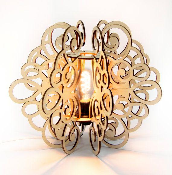 Lámpara de mesa de mesa SPLINE. Madera por DefdesignUA en Etsy
