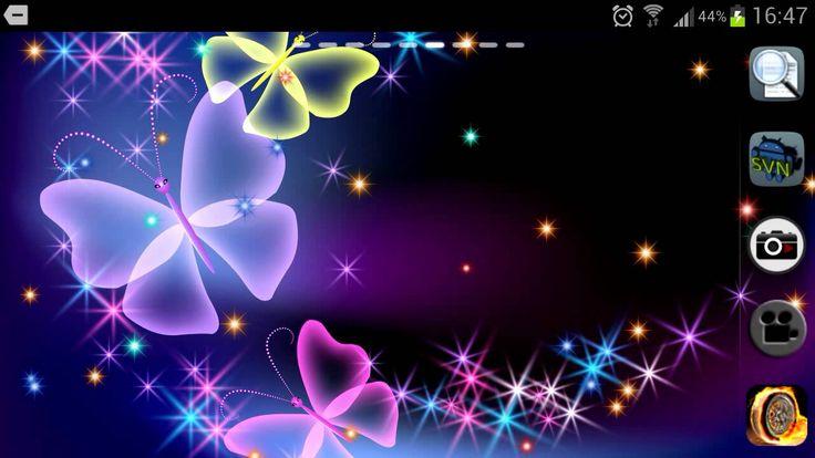 Live Butterfly Screensavers Sparkle Wallpaper