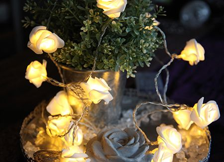 726-29 Star Trading Rose Basket - valosarja, Ruusut korissa, Led, paristokäyttöinen, ajastin, Noortr - Valosarjat sisälle - 005850 - 3