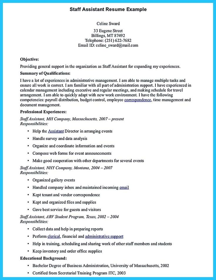 Cool Writing Your Assistant Resume Carefully, Check More At Http   Work In Texas  Resume  Work In Texas Resume