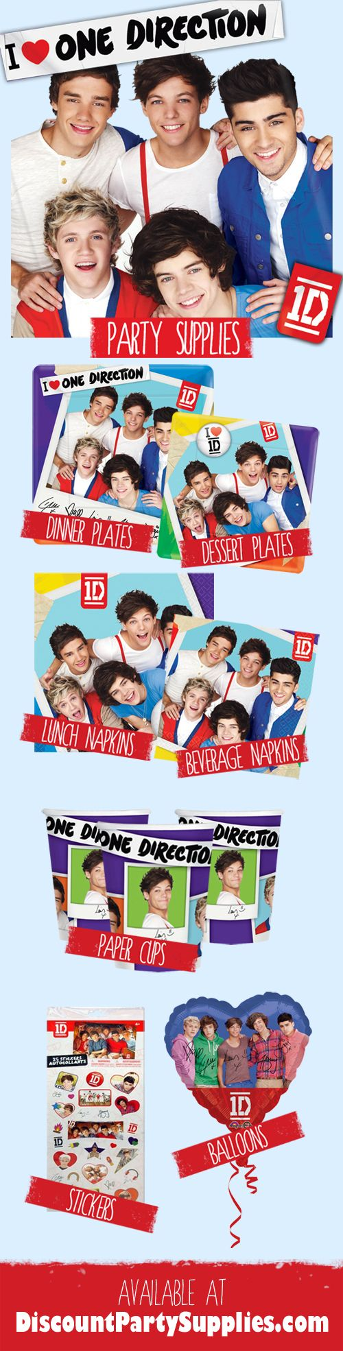 7 Must Have One Direction Party Supplies To Kick Off Your Summer!
