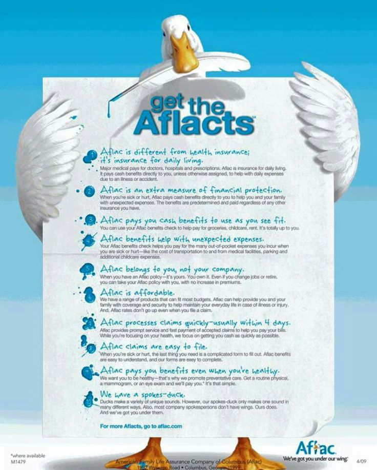 Aflac Supplemental Insurance Information Carla McCroan 214