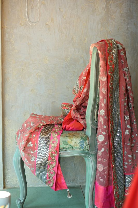 Beautiful Pink Embellished Dupatta.