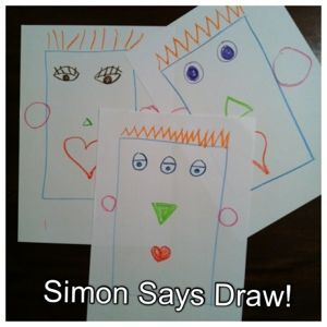 This is a great listening & giving instructions activity. It's also a bit of fun. :) Without letting the students see your work, draw and call out instructions for them to copy. Try to make som...
