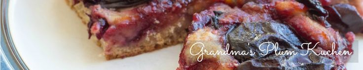 Pete and Buzz: grandma's plum kuchen