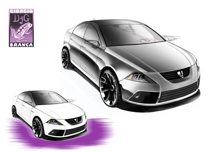 """Bozzetto """"automotive""""... Pantone markers + Photoshop"""