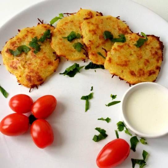 pieczone placki ziemniaczane (bezglutenowe, bez jajek)